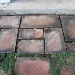 Stone walkway detail leading to the front door by Gardenhart Landscape & Design