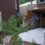 Townhome Drainage Solution in Durango Colorado by Landscape Architect David Hart