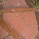 Rose Flagstone Walkway Detail in Durango Colorado installed by Landscaper Gardenhart Landscape & Design