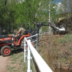 Tractor work on site with Gardenhart