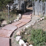 Sandstone walkway through zeric plantings near Durango Co by Gardenhart Landscape & Design