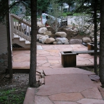 Secluded Flagstone Patio in Durango Colorado Landscaping by Gardenhart Landscape & Design