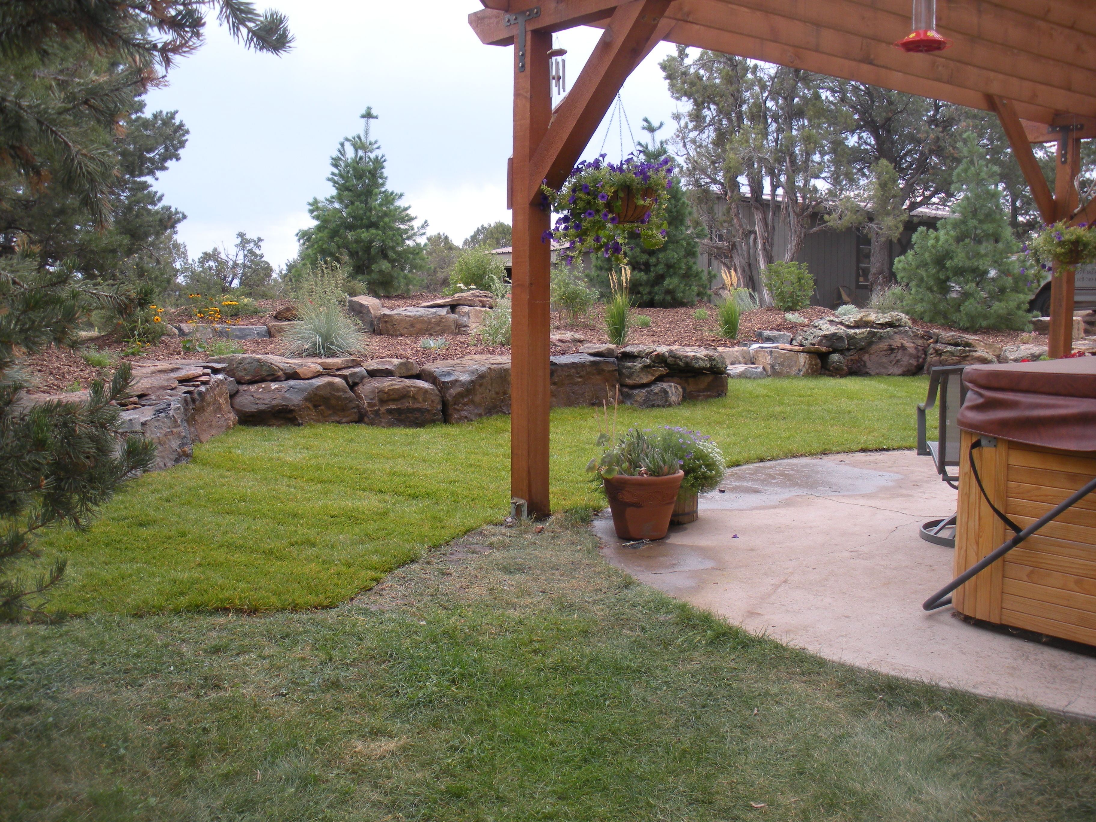 Gardenhart landscaping durango landcsape design portfolio Backyard landscape photos ideas