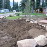 Building A Berm for planting in Durango Colorado by Gardenhart Landscape & Design
