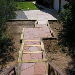 Flagstone Steps Constructed by Durango Colorado Landscaping Company Gardenhart Landscape & Design