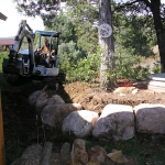 Hardscaping with large Boulders in Durango Colorado
